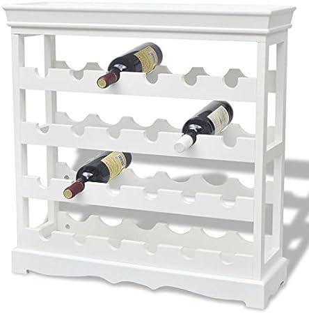 Festnight Botelleros de Vinos 70 x 22,5 x 70,5 cm Blanco