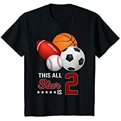 Kids Awesome Since 2017 This All Star Is 2 Birthday Sport Shirt