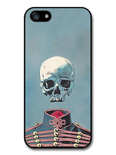 Floating Skull with Vintage Clothes Illustration on Blue Background case for iPhone 5 5S