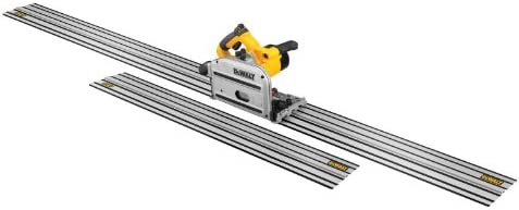 DEWALT DWS520CK 6-1 2-Inch 12-AMP TrackSaw Kit with 59-Inch and 102-Inch Track