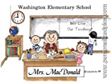 Personalized Name Print - Elementary School Teacher - Male or Female