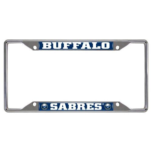 FANMATS NHL Buffalo Sabres Chrome License Plate (Buffalo Sabres Metal)