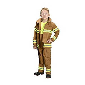 Aeromax Jr. Fire Fighter Bunker Gear, Tan, Size 12/14 - 415xmKLI7oL - Aeromax Jr. Fire Fighter Bunker Gear, Tan, Size 12/14