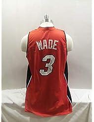 3d2a7220cbc Dwyane Wade Signed Miami Heat Autographed Novelty Custom Jersey