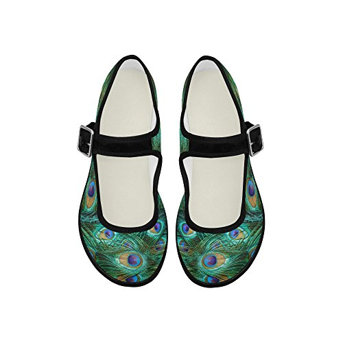 InterestPrint Womens Comfort Mary Jane Flats Casual Walking Shoes Multi 3 1CH3kn