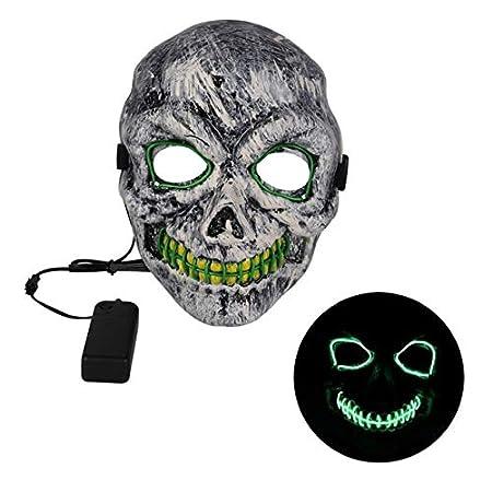 MSSJ Máscara Led Máscara de Fiesta de Halloween Máscaras de ...