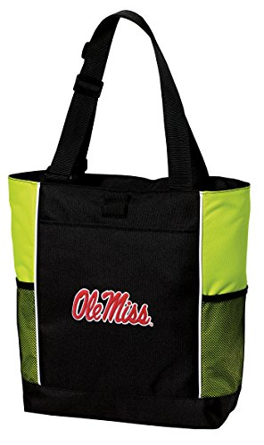 Broad Bay University of Mississippi Tote Bag Cool Lime Ole Miss Totes Beach Pool Or Gym