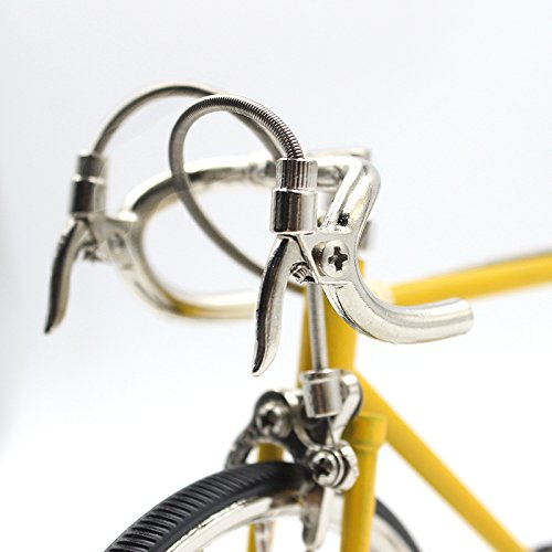 T.Y.S Racing Bike Model Alloy Simulated Road Bicycle Model Decoration Gift, Christmas Brithday Gifts for Dad, Boy and Cyclist, Yellow by T.Y.S (Image #2)