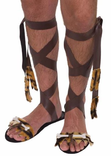 Forum Novelties Men's Stone Age Sandals