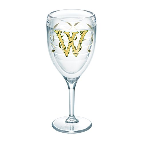 Tervis Initial W Wrap 9oz Stemmed Wine Glass, Clear