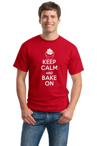 KEEP CALM AND BAKE ON Unisex T-shirt / Funny Baker, Cute Baking Shirt