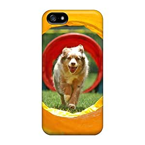 Iphone 5/5s Hard Back With Bumper Cases Covers Dog Agility