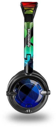 (Rainbow Plaid Decal Style Skin fits Skullcandy Lowrider Headphones (HEADPHONES SOLD SEPARATELY))