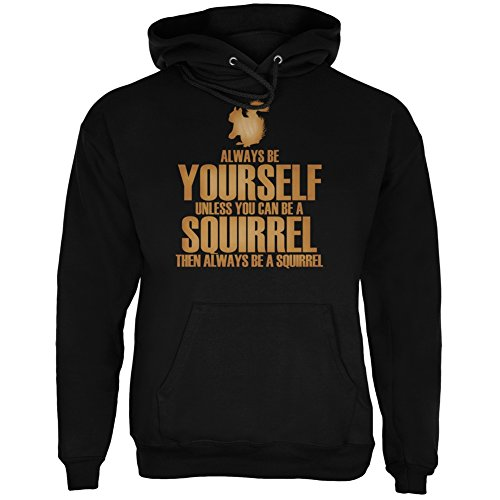 Always Be Yourself Squirrel Black Adult Hoodie