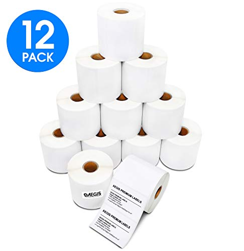 [12 Rolls, 700/Roll] Aegis 3 Inch X 2 Inch Direct Thermal Zebra/Eltron Compatible Labels - Premium Resolution & Adhesive