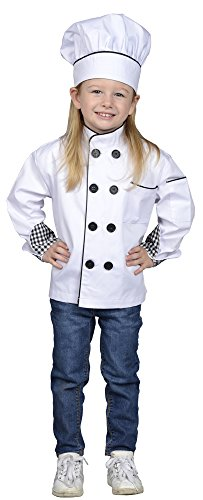 Aeromax Junior Chef Kitchen Costume, White, Large -