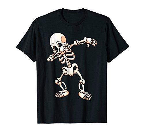 Dabbing Skeleton Cool Scary Halloween T-Shirt -