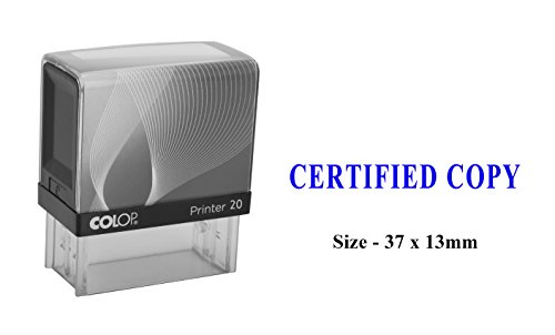 CERTIFIED COPY Colop Self-Inking Plastic Stamp Clear Print For Office Use Stamp ()