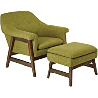 Ave Six Lynton Chair and Ottoman, Green