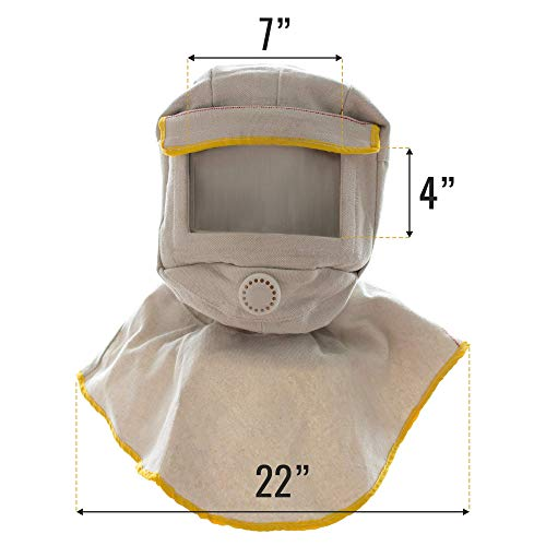 Open Window At Dusk: Sandblasting Hood With Large Viewing Screen For Anti Dusk