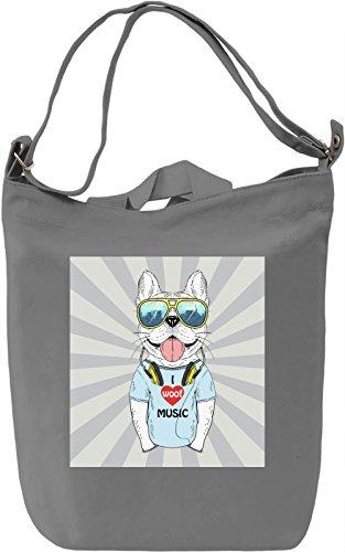 Funny Dog Borsa Giornaliera Canvas Canvas Day Bag| 100% Premium Cotton Canvas| DTG Printing|