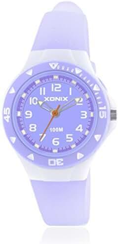 Girls girl girls kid luminous quartz pointer waterproof watch-D