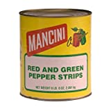 Mancini Red & Green Pepper Strips (6 lbs. 6 oz. can) (pack of 2)