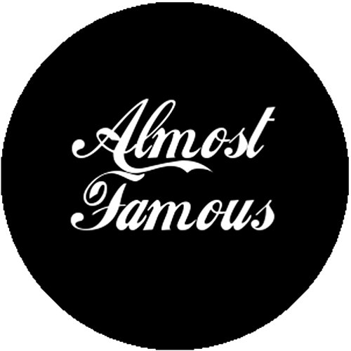 Black Fashion Badge Button Almost Famous Ironic Sarcastic Hipster Punk Emo - Almost Famous Costume