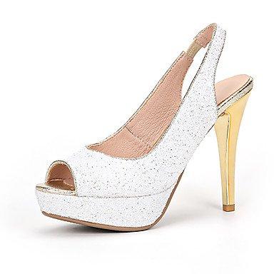 Zormey Les Talons Des Femmes Printemps ¨¦t¨¦ Automne Chaussures Chaussures Club De Fille De Fleur Glitter Supports Personnalis¨¦s Mariage &Amp Tenue De Soir¨¦e Talon Nous Blanc8 / Eu39 / Uk6 / Cn39