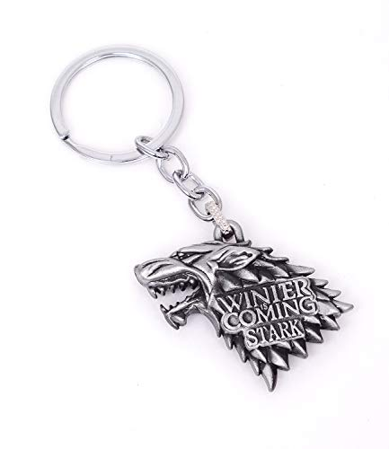 Reddream Cute Game of Thrones House Stark Keychain Pendant Accessories Charms Gifts for Boy Girl Best Friend and -