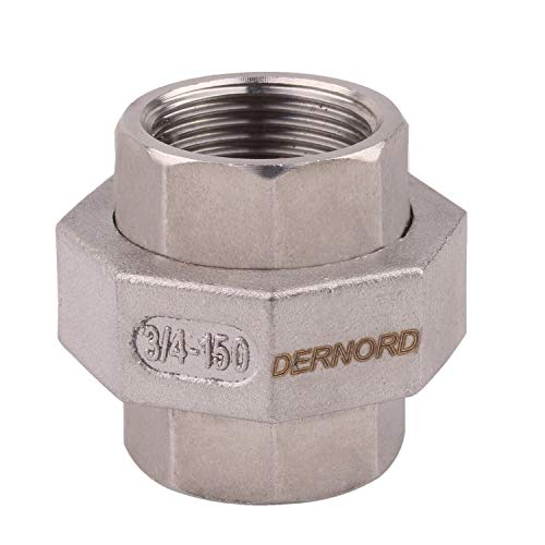Cast Pipe Fittings Union  3/4 NPT Female Fitting Stainless Steel 304, Class 150