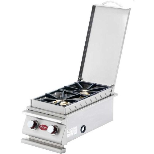 Cal Flame Deluxe Double Built-in Natural Gas Side Burner (ships As Propane With Conversion Fittings) - Bbq14899p