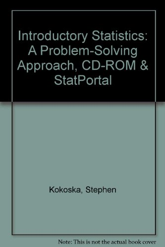 Introductory Statistics: A Problem-Solving Approach, CD-ROM & StatPortal