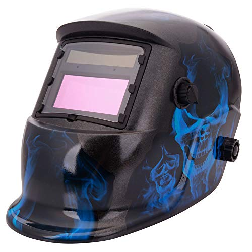Cosway Safety Insight Variable Auto Darkening BlackFlame Style Color Changing Solar Power Single-panel Welding Helmet
