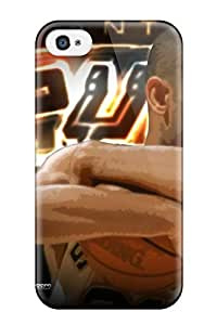Iphone 4/4s Hard Back With Bumper Silicone Gel Tpu Case Cover Tim Duncan