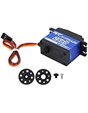 Digital Servo, 25KG Continuous Rotation Metal Digital Servo for RC Robots with Accessories and Screws