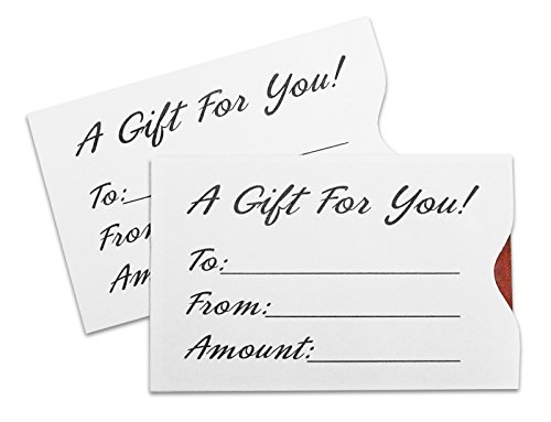 Gift Card Sleeve - White (100 pack)