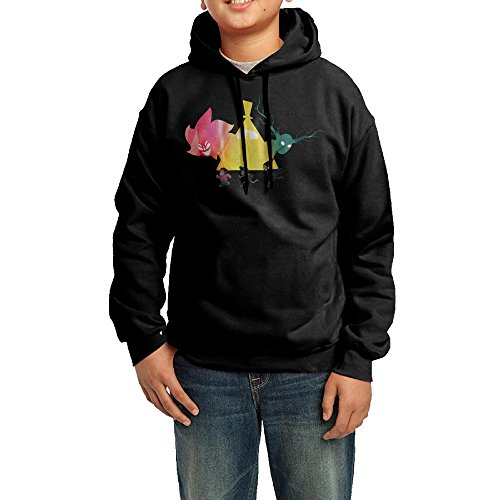 [YHTY Youth Unisex Hooded Sweatshirt Over The Garden Cartoon Adventure Wall Black Size M] (Alvin And The Chipmunks Costumes For Kids)
