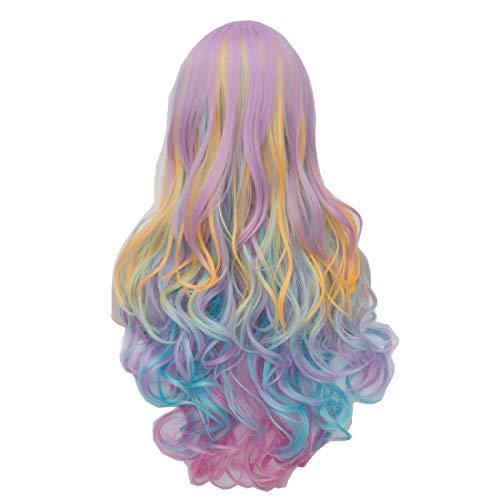 OYIXU Multicolor Rainbow Highlights Cosplay product image