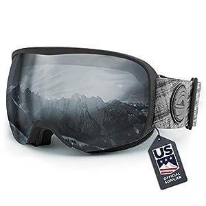 Lunettes de Ski Cristo de Wildhorn – Fournisseur Officiel de l'équipe américaine de Ski – Lunettes de Ski pour Homme, Femme et Adolescent