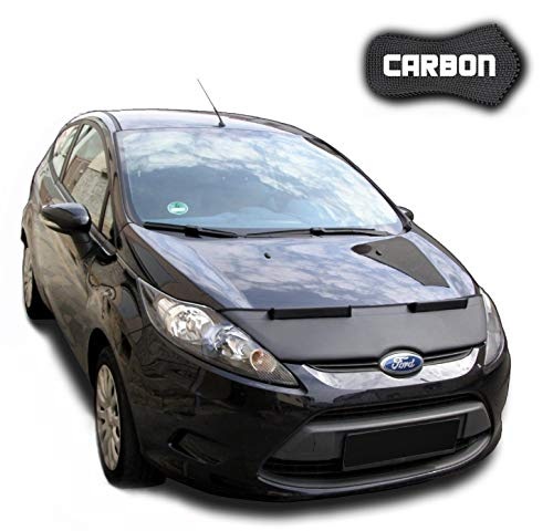 Protector de Capo para Ford Fiesta 7 CARBON Hood Bra máscara Capot Capucha Frond End Cover Bonnet TUNING Black Bull Nuevo