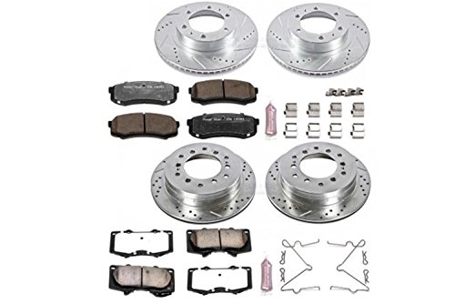 Power Stop K138-36 Front & Rear Z36 Truck and Tow Brake Kit