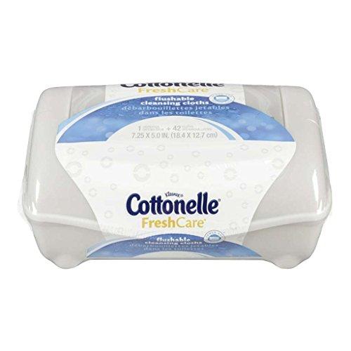 Cottonelle Fresh Flushable Moist Wipes, Pop-up Tub, 42 Co...