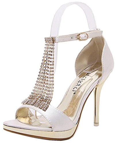 Laruise Women's Crystal Stiletto Beige OT33mcXCVG