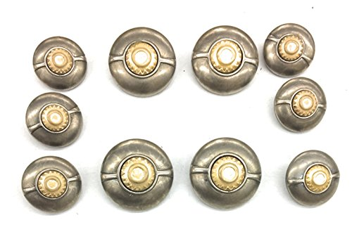 Fashion Gold & Silver Buttons Sets for Coat or Blazer 10 Pc. matte silver buttton -
