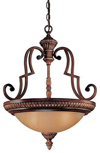 Minka Lavery Pendant Ceiling Lighting 937-126, Belcaro Large Bowl, 3 Light, 300 Watts, Walnut -