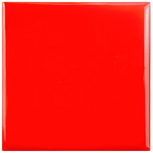 Red Floor Tiles (SomerTile WRC4TWRC Torsio Square Ceramic Wall Tile, 3.75