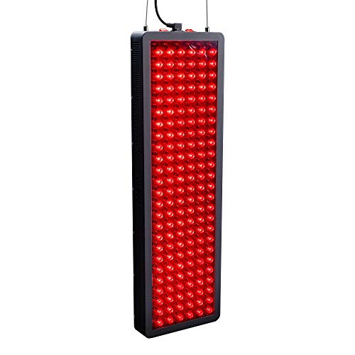 Red Light Therapy by Hooga, 660nm 850nm, Near Infrared LED Light Therapy, 300 LEDs. High Power, Low EMF Output. for Energy, Pain Relief, Skin Health, Beauty, Anti Aging and Performance. HG1500.