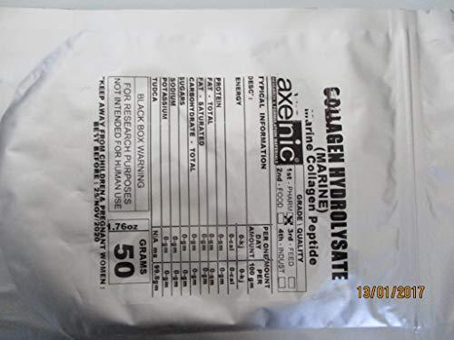 Marine Collagen PEPTIDE HYDROLYSATE 50 Grams Powder CAS# 99-6 Marine-Collagen-PEPTIDE-HYDROLYSATE-50-Grams-Powder-99-6 ()
