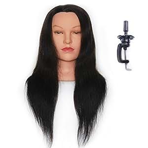 Amazon Com Hairealm 24 Quot Mannequin Head 100 Human Hair